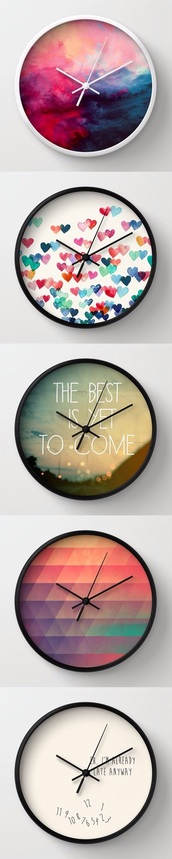 home accessory,cool,cute,clock,hipster,society6,living room