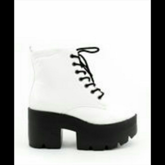 shoes white shoes heels chunky