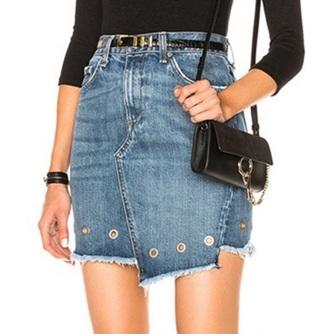 skirt girly denim denim skirt grommets mini mini skirt frayed denim frayed denim skirt