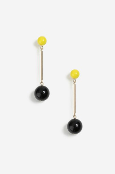 Topshop ball earrings lime jewels