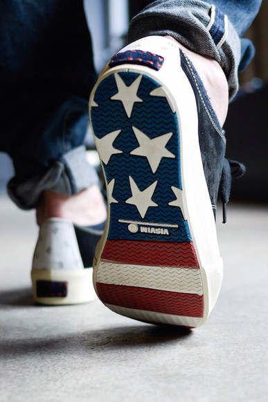 designer style cool mens shoes menswear american flag 4th july