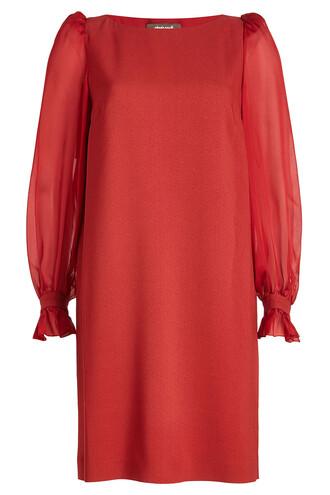 dress sheer red