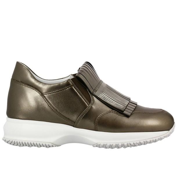 Hogan sneakers. women sneakers shoes gold