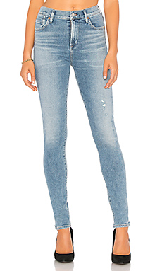 Citizens of Humanity Rocket Sculpt High Rise Skinny in Small Talk from Revolve.com