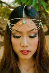 hair accessory,head chains,gold head chain,head jewels,accessories