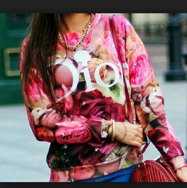 sweater floral sweater floral dior dior sweater