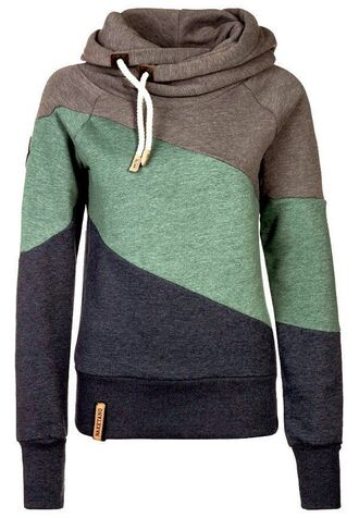 sweater clothes sweatshirt pullover hoodie jacket brown green black hoodie coat