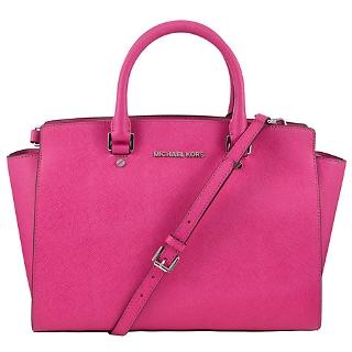 1bf3c363f1b9 Buy MICHAEL Michael Kors Selma Leather Satchel Bag | John Lewis