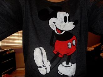 sweater mickey mouse grey crewneck