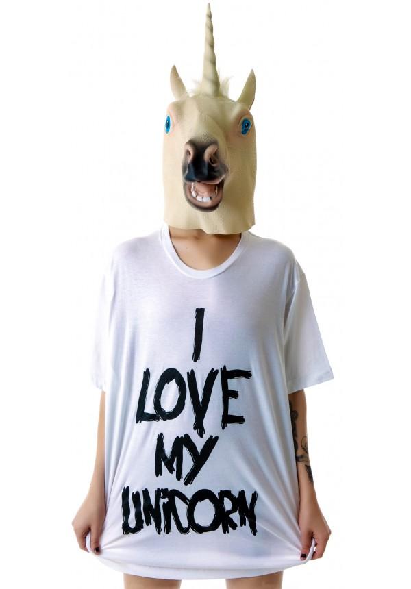 Ktag I Love My Unicorn Oversized Tee | Dolls Kill