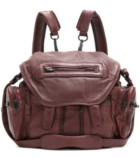 Alexander Wang Marti Mini Leather Backpack in red