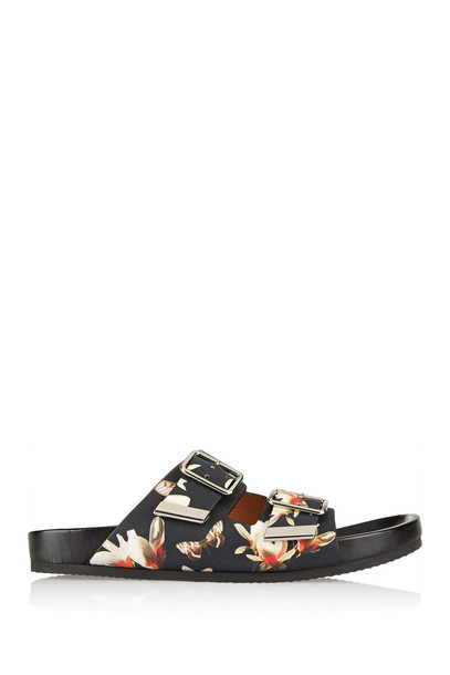 Givenchy sandals leather sandals leather print black shoes