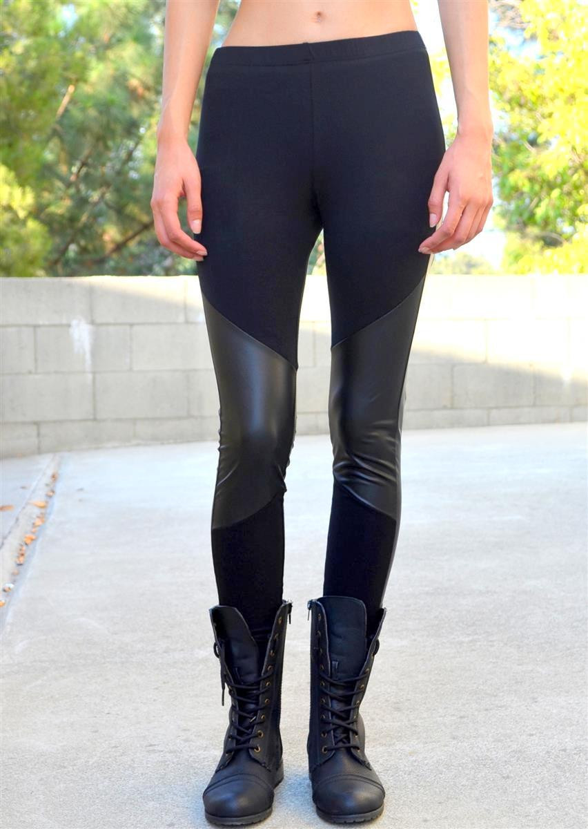 Leather knee leggings – shopcivilized