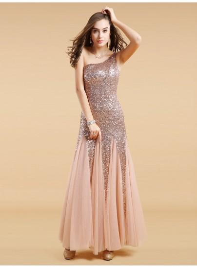 Jayle gold sequin evening dress