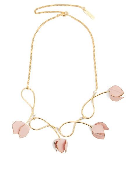 embellished necklace pink jewels