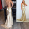 Aliexpress.com : buy real picture champagne gold mermaid prom dress 2016 sparkle long glitter prom dresses open back sexy sequin dress backless from reliable dress kaftan suppliers on suzhou aee wedding store