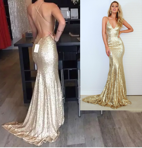 Aliexpress Com Buy Real Picture Champagne Gold Mermaid