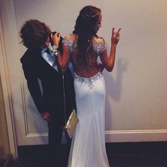 dress long prom dress prom dress maxi dress sparkly dress sparkle dress glitter dress white dress beautiful dresses classy woman hat