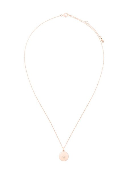 Astley Clarke rose gold rose women necklace gold grey metallic jewels