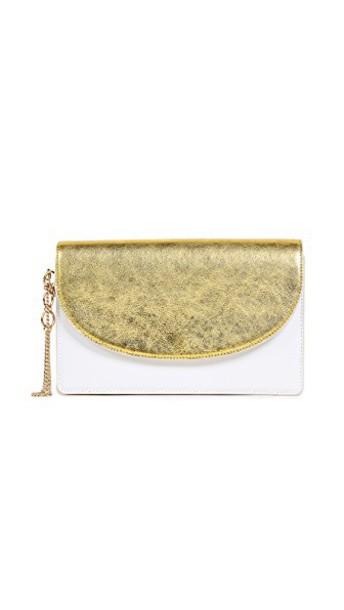 Diane Von Furstenberg metallic clutch bag