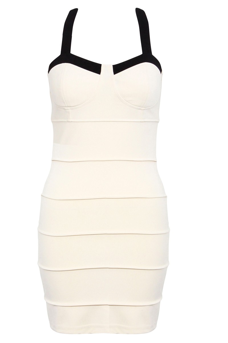 Provoking Nude Bandage Bodycon Dress - Dresses - Shop By Product - SHOP LASULA BOUTIQUE