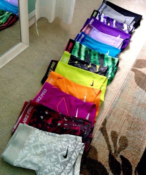 shorts nike nike pro shorts nike pro cheerleading colorful spanks sports shorts