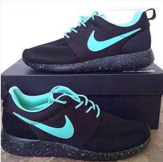 shoes nike nike roshe run black galaxy print blue cute beautiful nice summer walking running sportswear