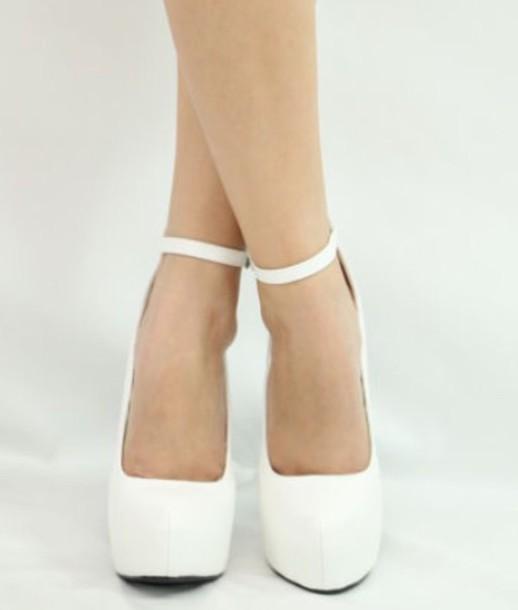 shoes, white, pumps, straps, white