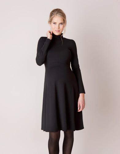 Black turtleneck vanessa dress