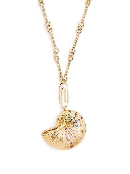 AURÉLIE BIDERMANN FINE JEWELLERY necklace gold necklace gold yellow jewels