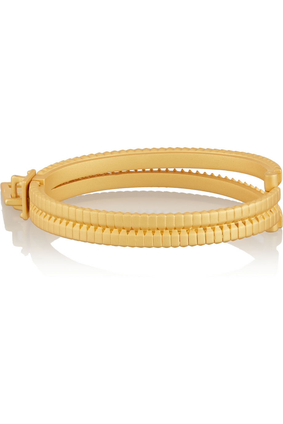 Eddie Borgo Zip matte gold-tone bracelet – 55% at THE OUTNET.COM