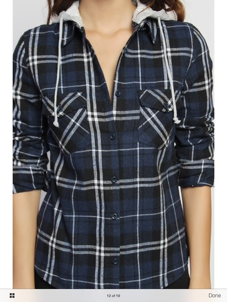 shirt navy flannel
