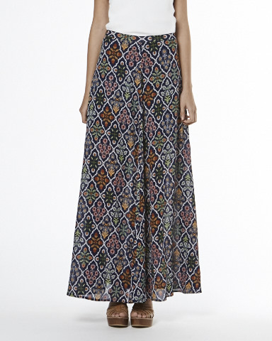 Bouquet Floral Maxi Skirt - Indigo - - Tigerlily Shop - Tigerlily