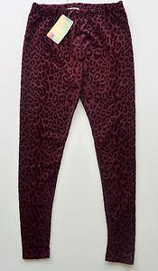 Zara Woman Burgundy Velvet Jacquard Leopard Animal Print Skinny Leggings UK M   eBay
