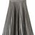 Silver Zipper Side Pleated Flare Skirt