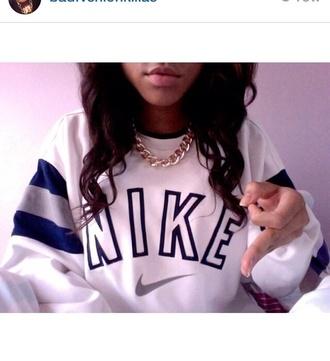 shirt nike sweatshirt vintage nike sweatshirt pullover blue and white nike swag nikesb