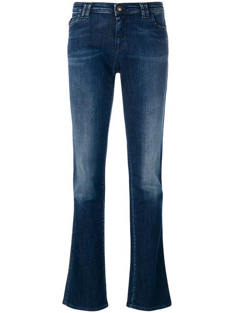 Armani Jeans - straight jeans - women - Cotton/Spandex/Elastane - 30, Blue, Cotton/Spandex/Elastane
