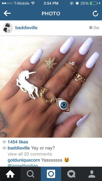 jewels unicorn ring pastel soft grunge
