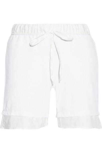 shorts cotton white