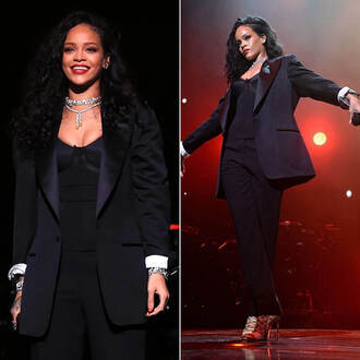 jacket suit rihanna sandals shoes