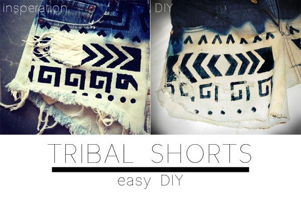 DIY: tribal print shorts | Made in Pretoria