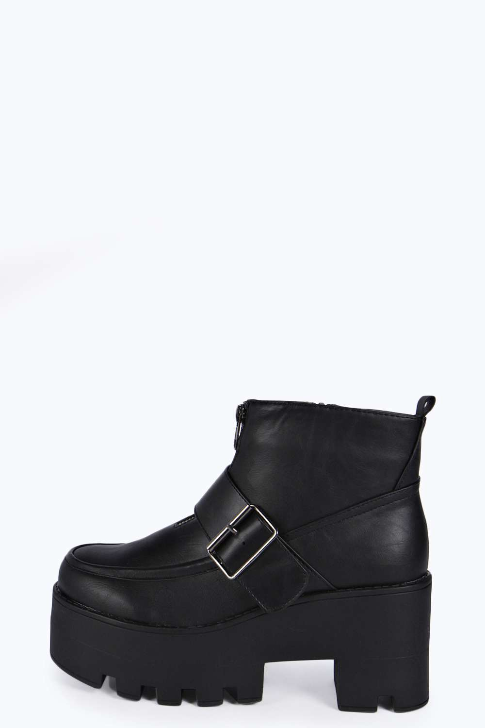 Anna buckle trim cleated boot