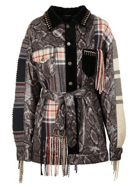 MAISON MARGIELA coat patchwork multicolor