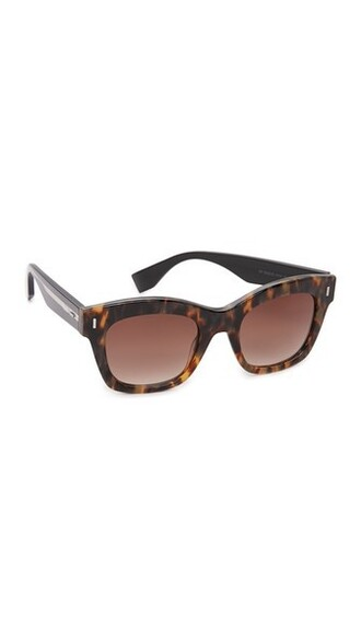 colorblock light sunglasses black brown