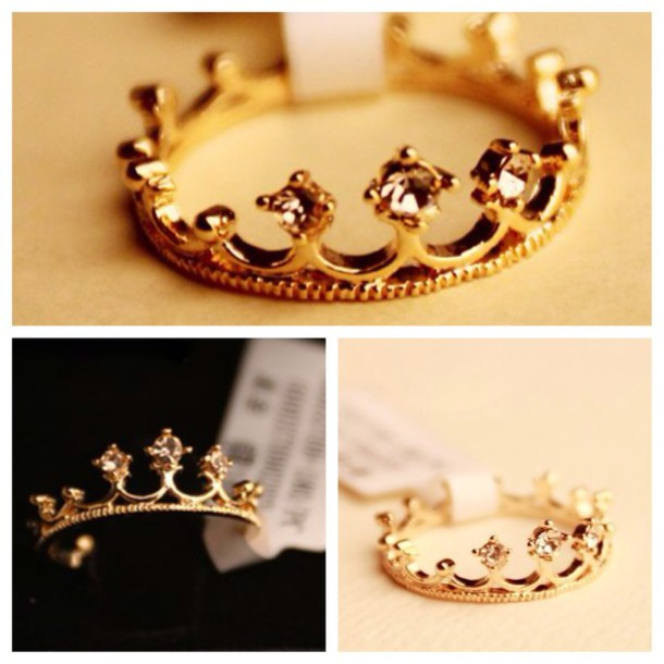 Jewels Ring Gold Ring Crown Ring Princess Ring Gold