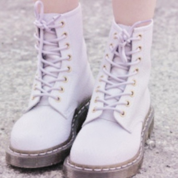 Shoes Boots Purple Laces Tumblr Cute Wheretoget