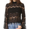 Minkpink drama queen lace top - black