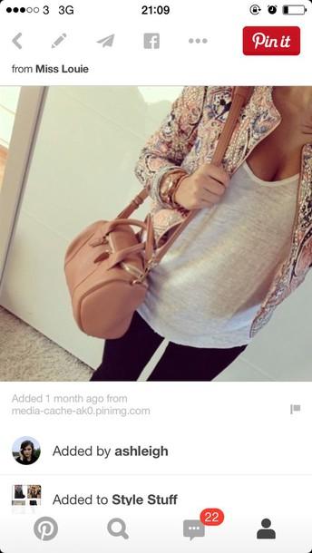 jacket pastel patterned jacket paisley