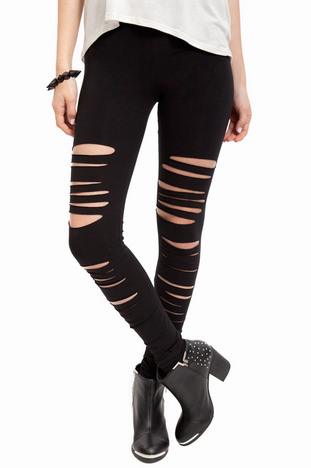 Front Slashed Leggings ~ TOBI