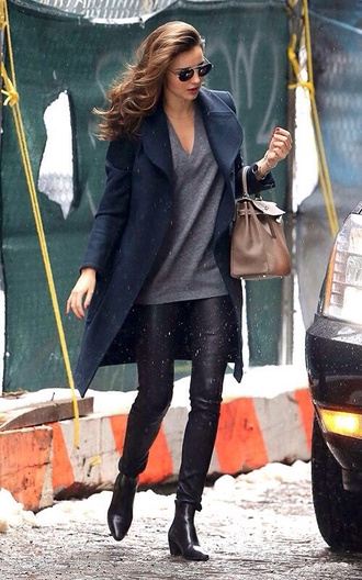jacket miranda kerr navy long jacket shirt